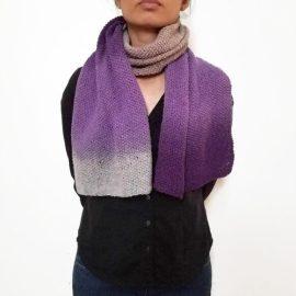Plum Purple Wool Scarf Vone Kevitz