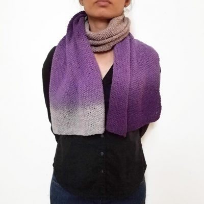 Plum Purple Wool Scarf Vone Kevitz