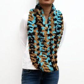 Brown/Turquoise RUTH Scarf Vone Kevitz
