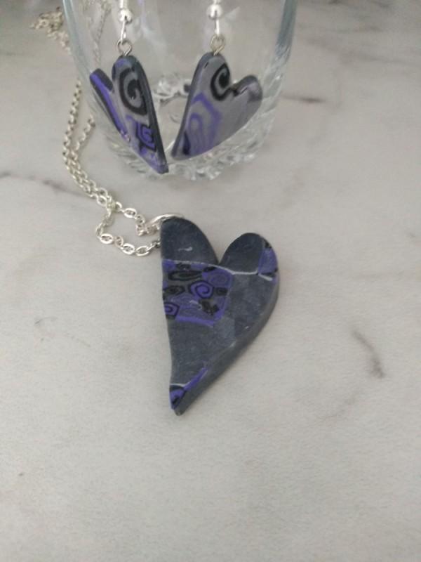 Purple Mica Heart set