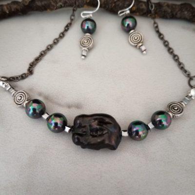 Black BIWA Necklace set