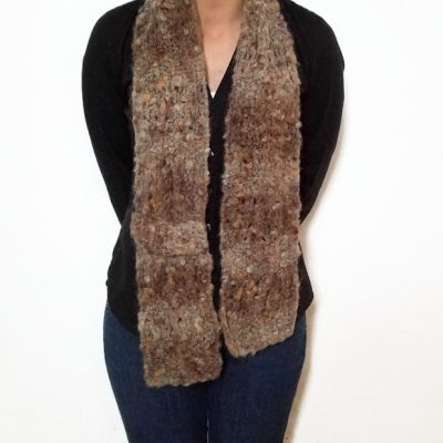 Brown Mohair ESTHER Scarf Vone Kevitz