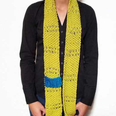 Lime Green ESTHER Scarf Vone Kevitz