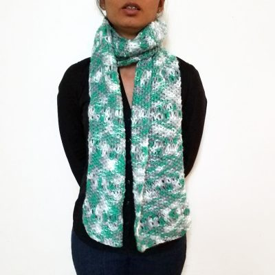 Teal/Grey/White ESTHER Scarf Vone Kevitz