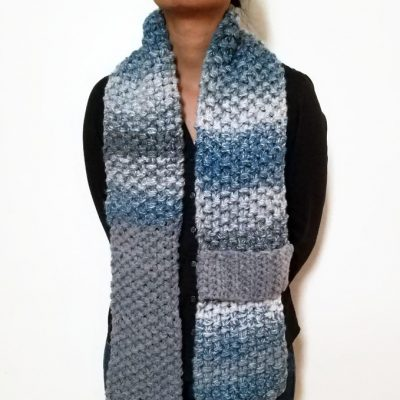 Blue/Grey KETURAH Scarf Vone Kevitz