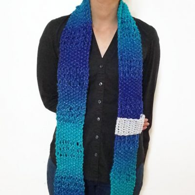 Sparkly Blue ESTHER Scarf Vone Kevitz
