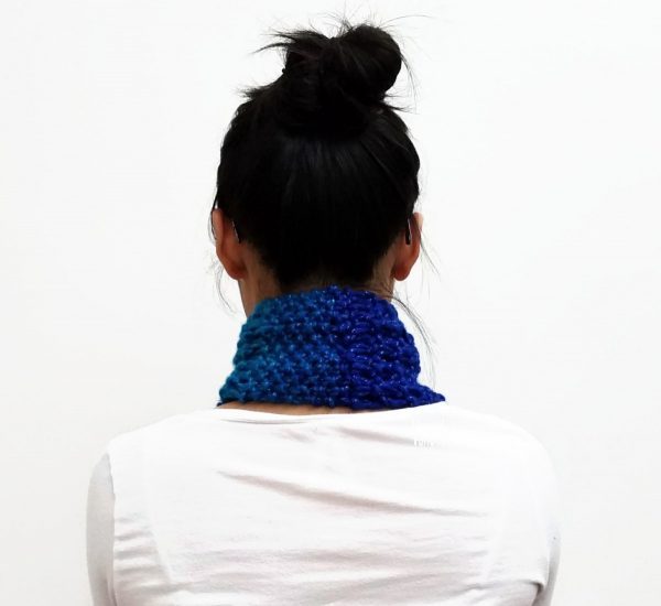 Sparkly Blue ESTHER Scarf Vone Kevitz
