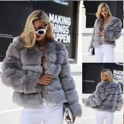faux fur gently worn jacket