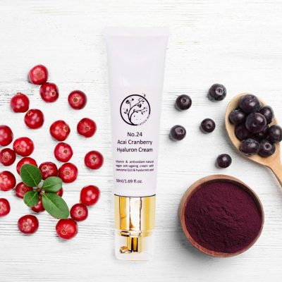 Acai Cranberry Hyaluron Cream | hydrating vitamin and antioxidant natural vegan anti-ageing cream with CoeQ10 & hyaluronic acid