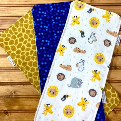 Jungle Animals burp cloth set