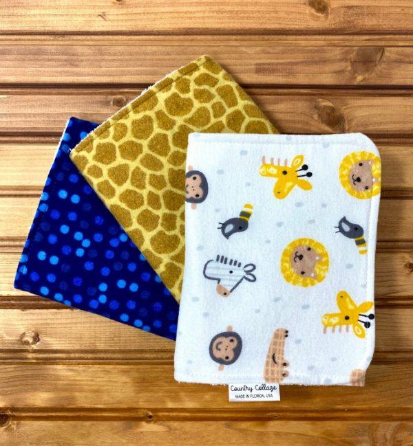 Jungle Animals burp cloth set